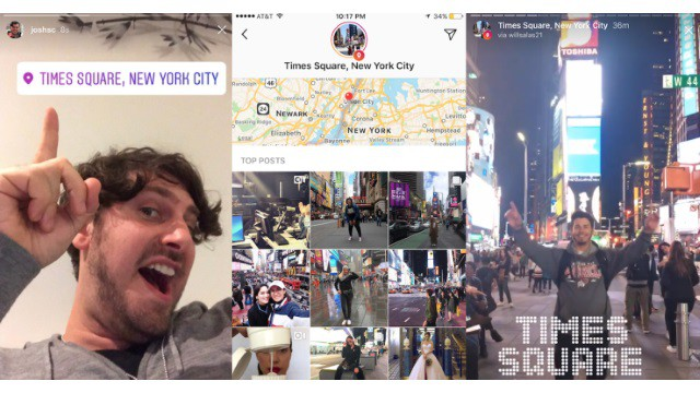 Here's what Instagram location stories look like.