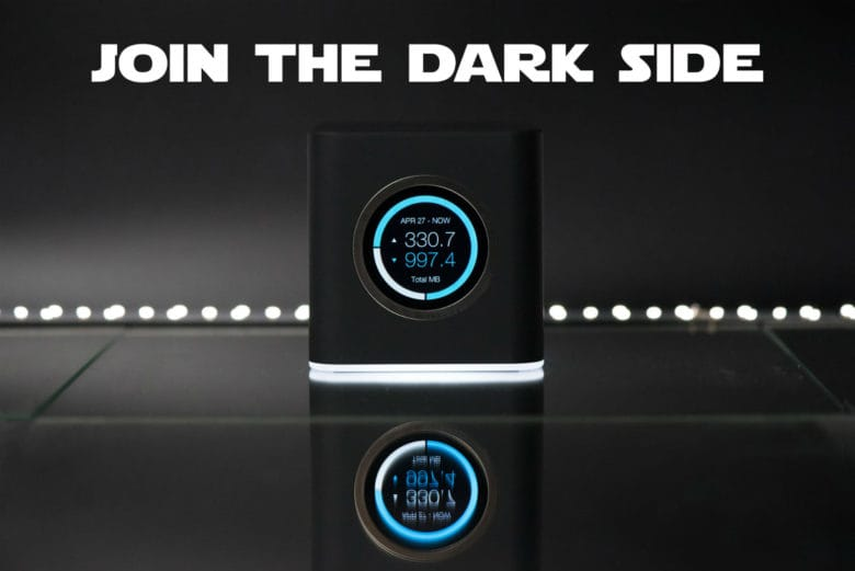 Winning a limited-edition black AmpliFi HD Mesh Router on Star Wars Day is easier than a trench run.