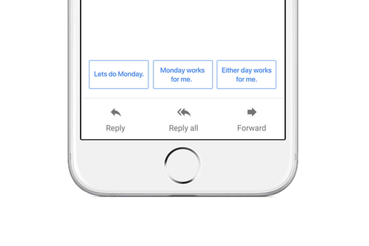 Smart Reply in Google Inbox.