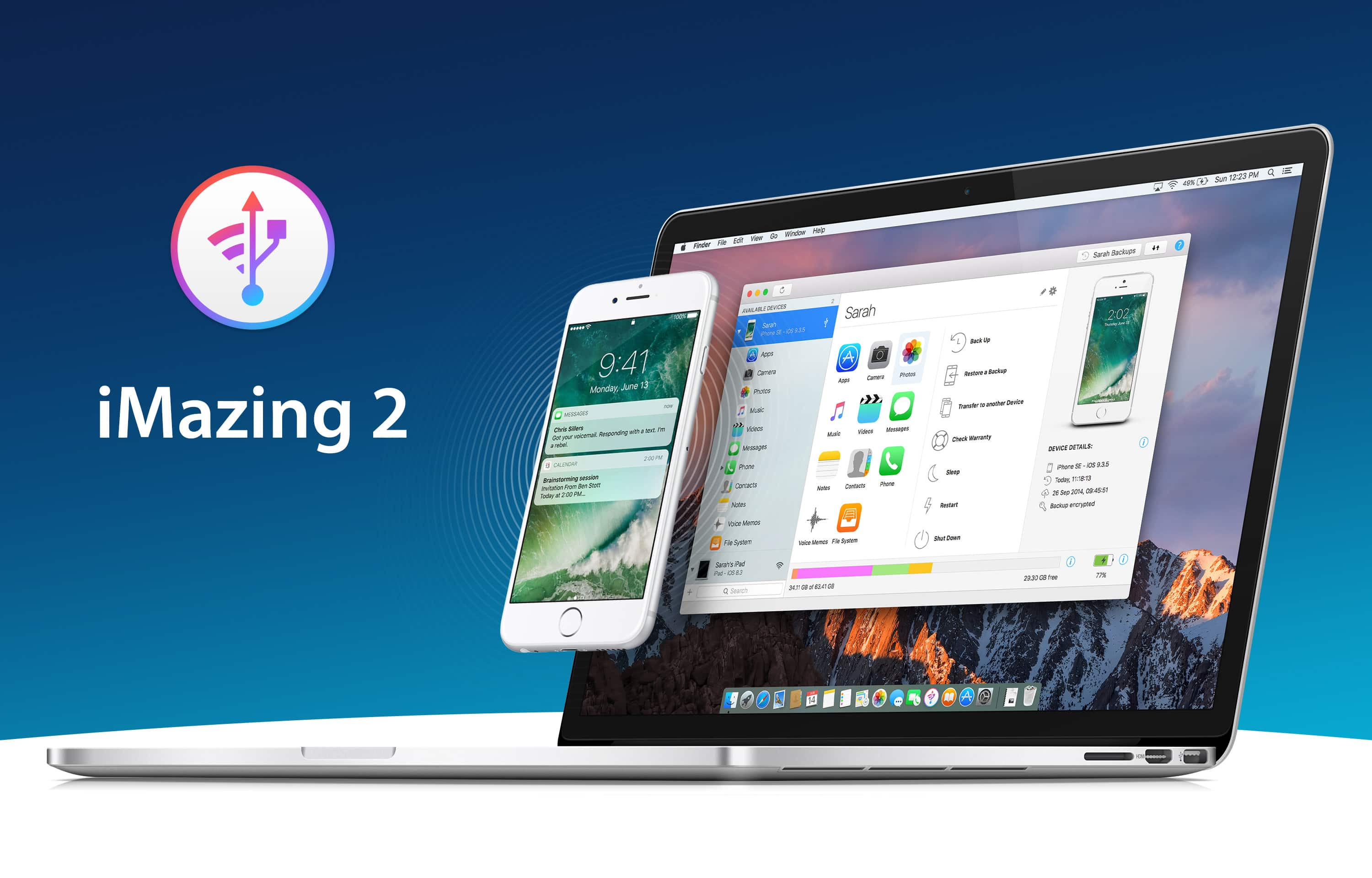 The latest version of iMazing, an iOS device manager for Mac and PC, adds iOS 10.3 compatibility and great new features