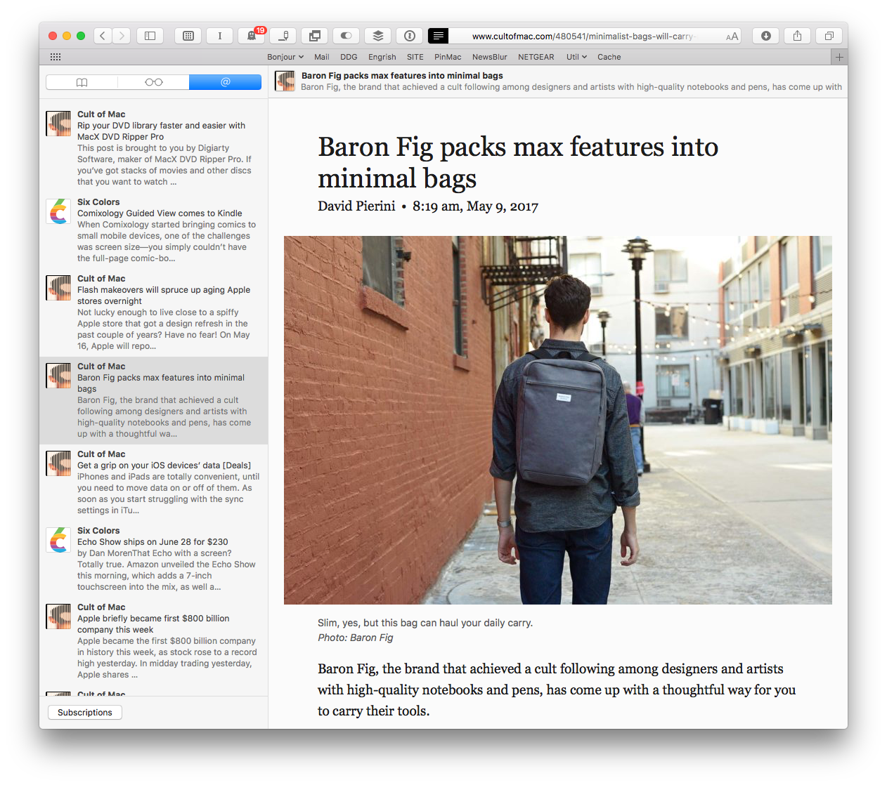 Safari packs some surprisingly powerful features, like Shared Links.