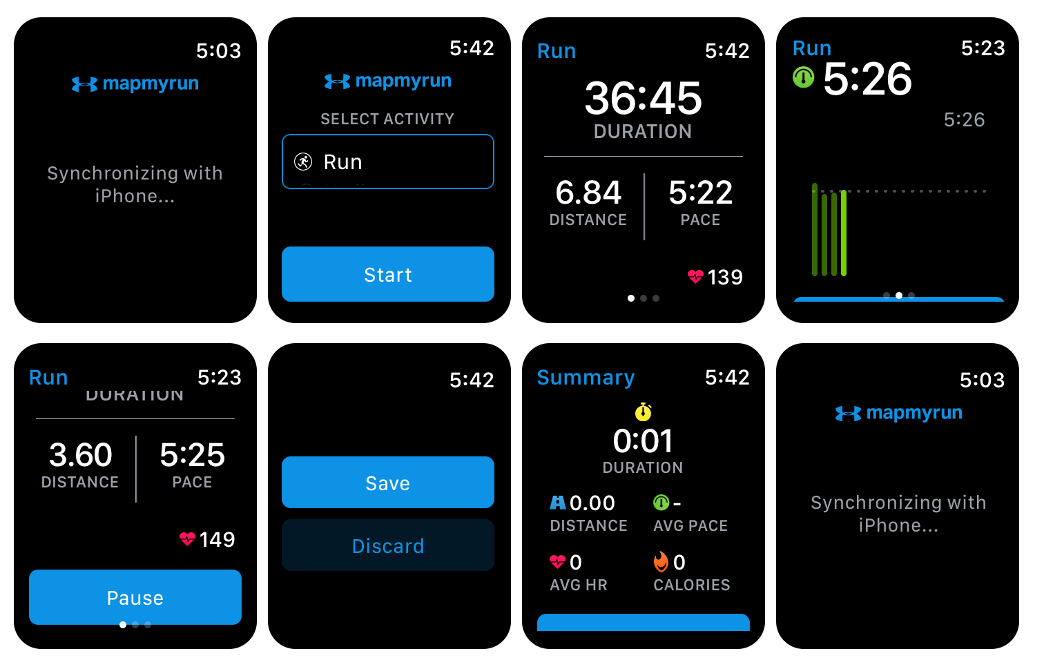 MapMyRun watch app