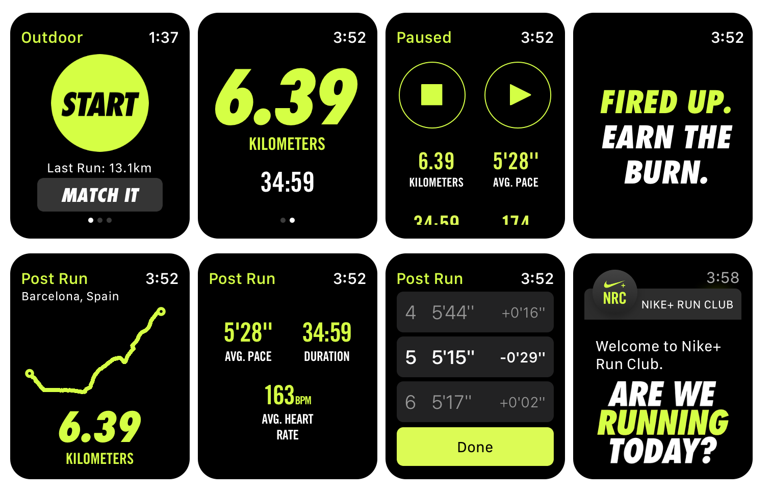 Nike+ Run Club Apple Watch running app