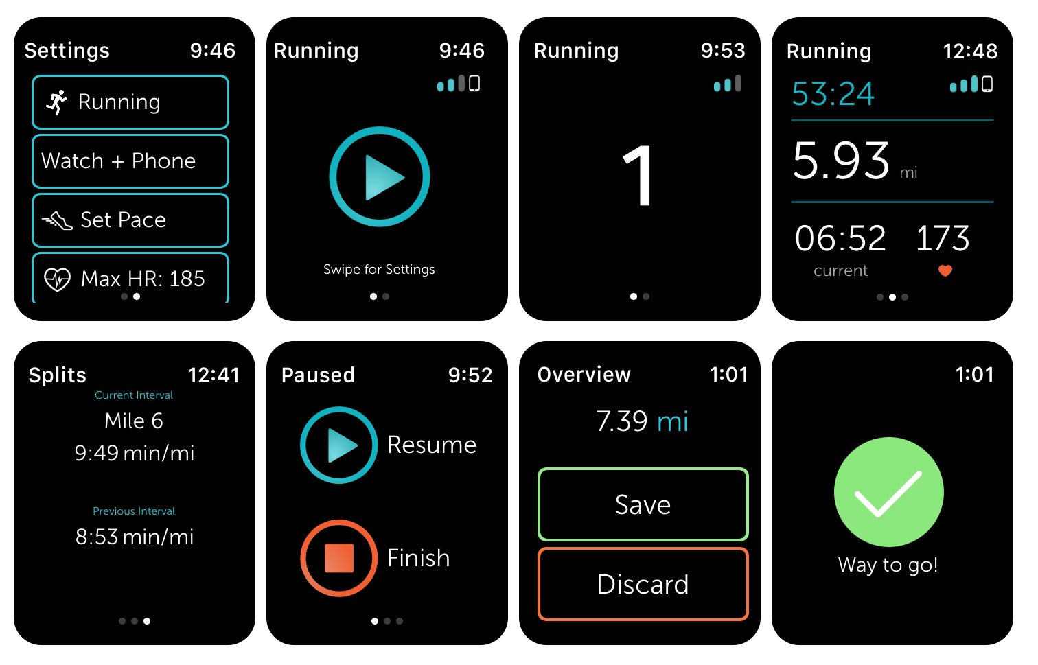 Runkeeper watch app