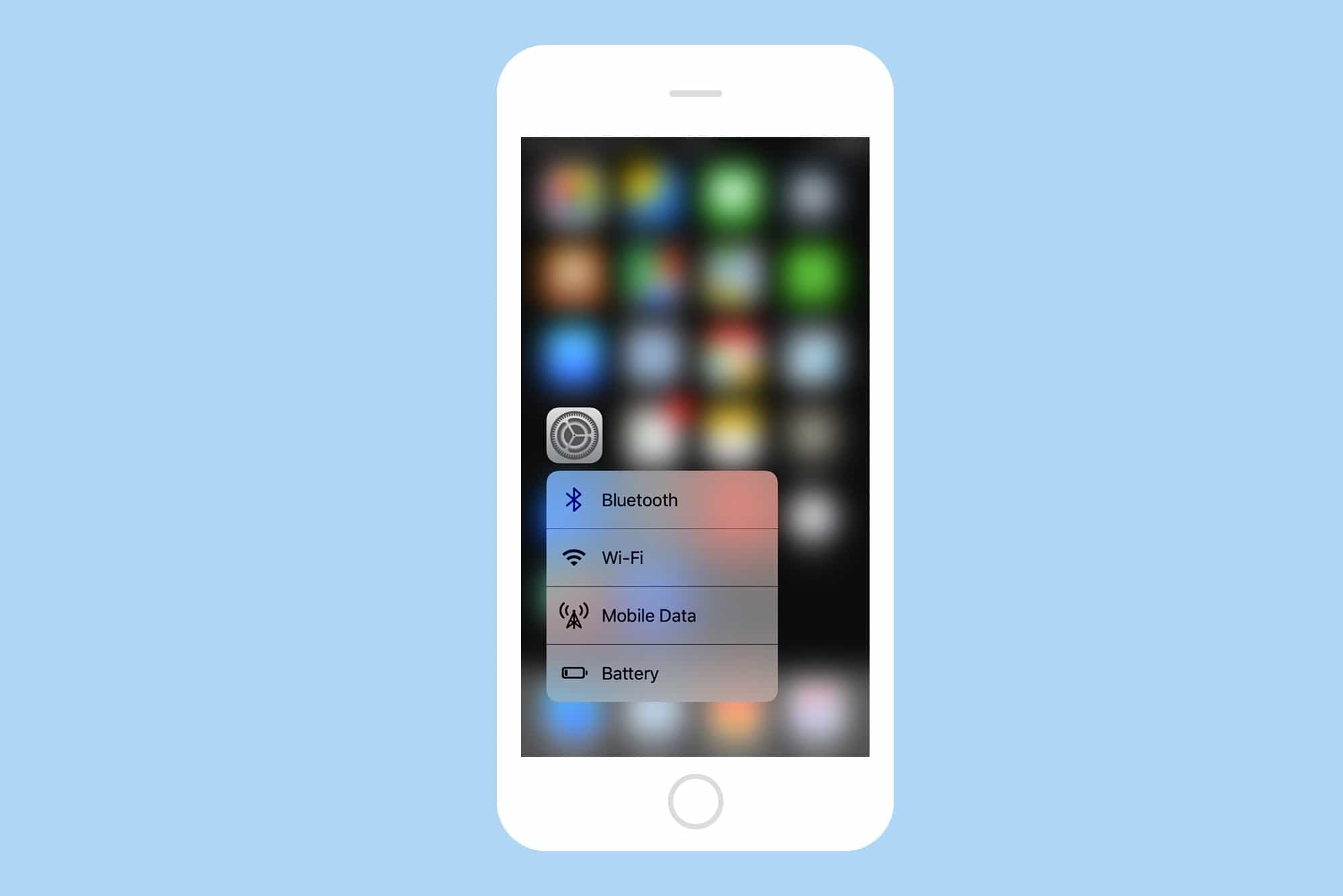 3d touch settings shot