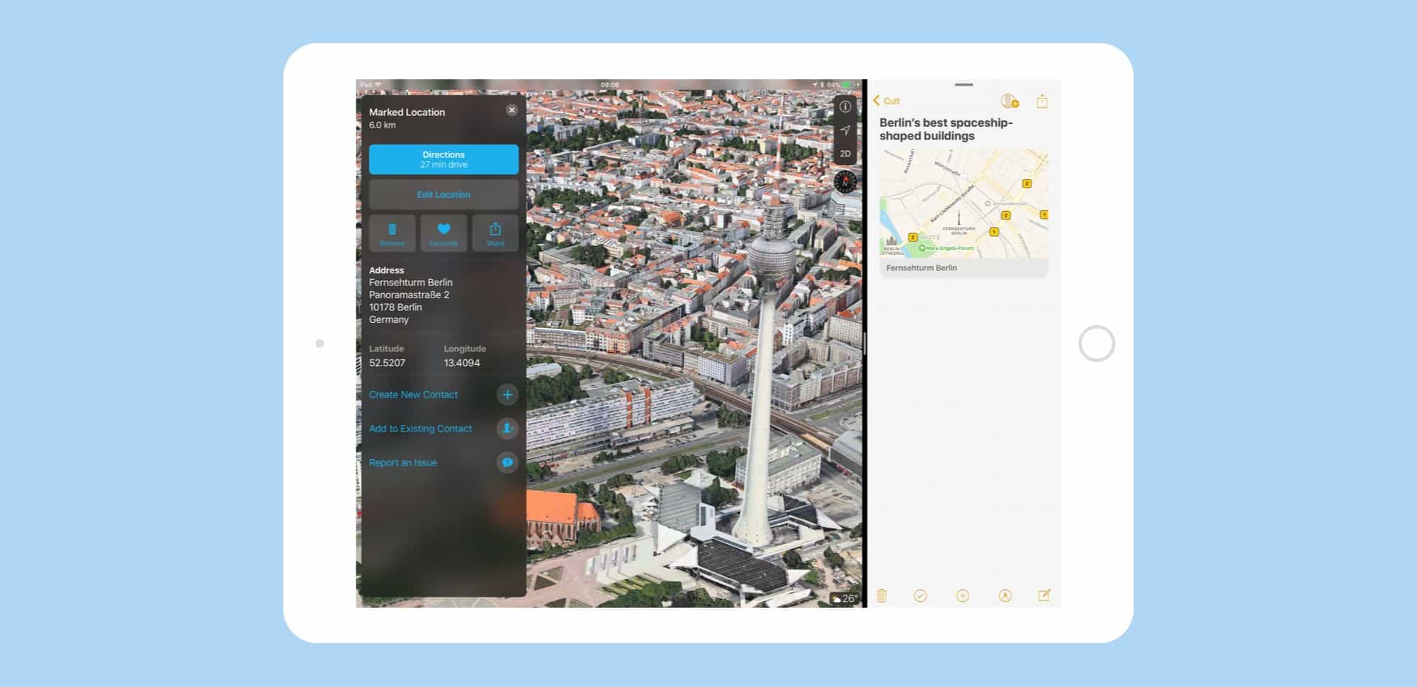 How to use drag and drop in ios 11 maps cult of mac take a virtual tour before you arrive and drag the highlights to a note gumiabroncs Gallery