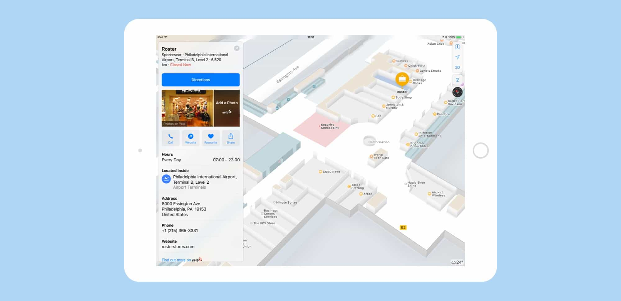airport maps iOS 11