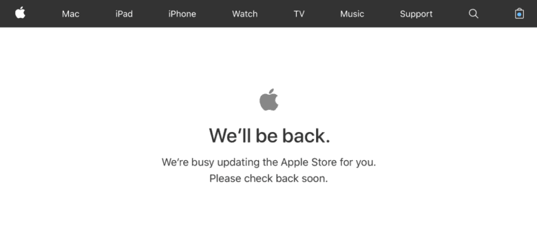 Apple store down event