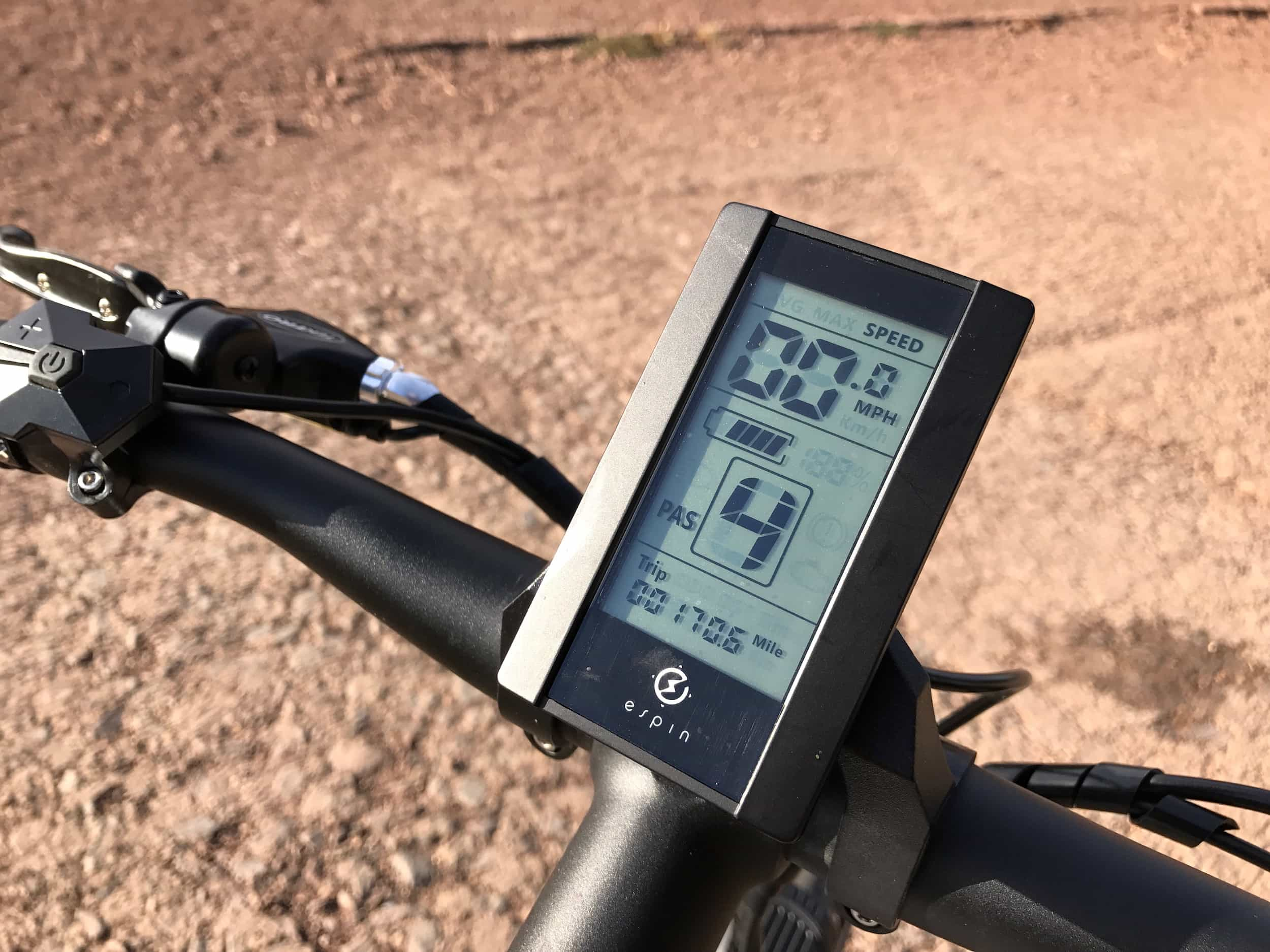 Espin Sport electric bike LCD display