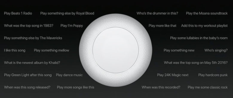 HomePod can be asked sophisticated music questions.
