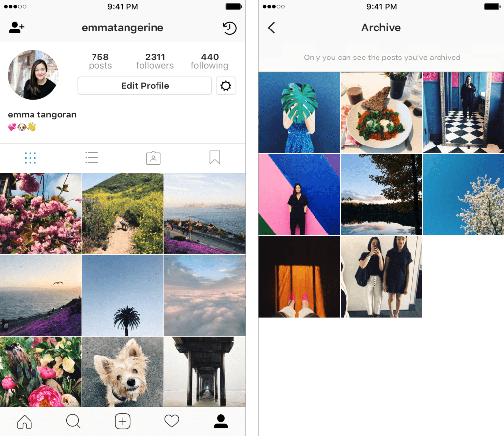 Archive comes to Instagram.