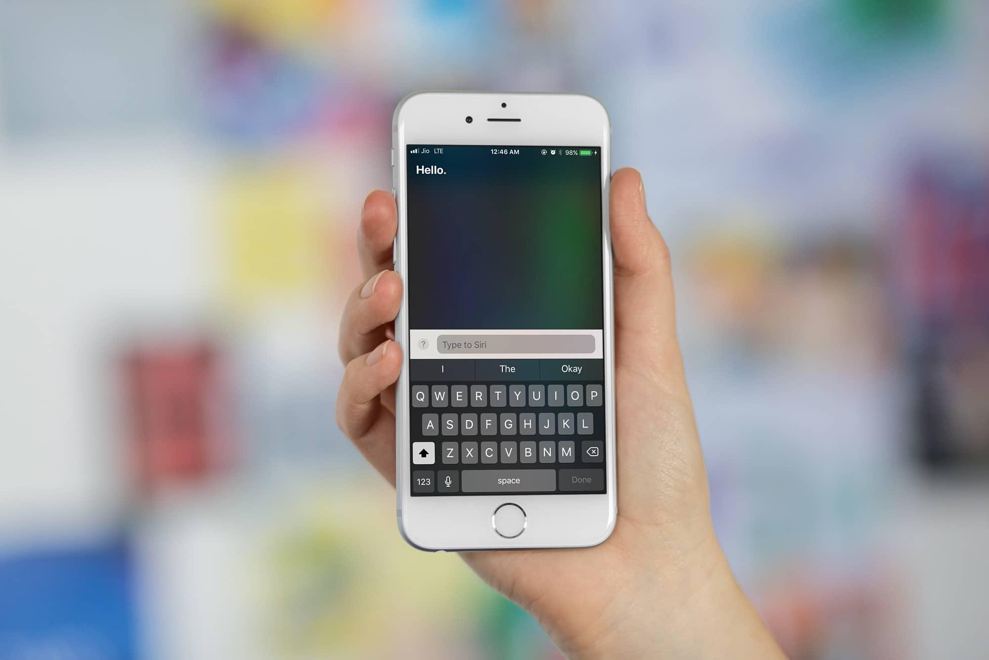 Type to Siri on iOS 11