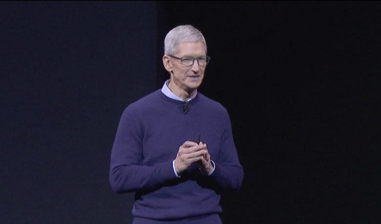 Apple CEO Tim Cook at WWDC 2017.