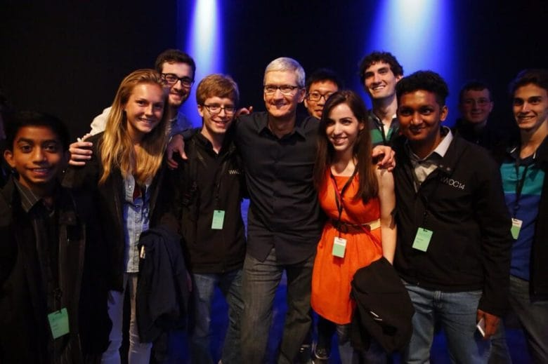 Tim Cook WWDC scholars 2014