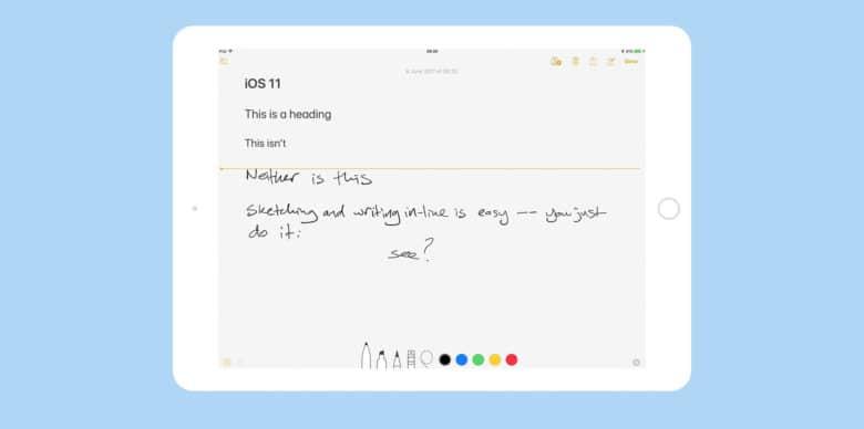 iOS 11 notes