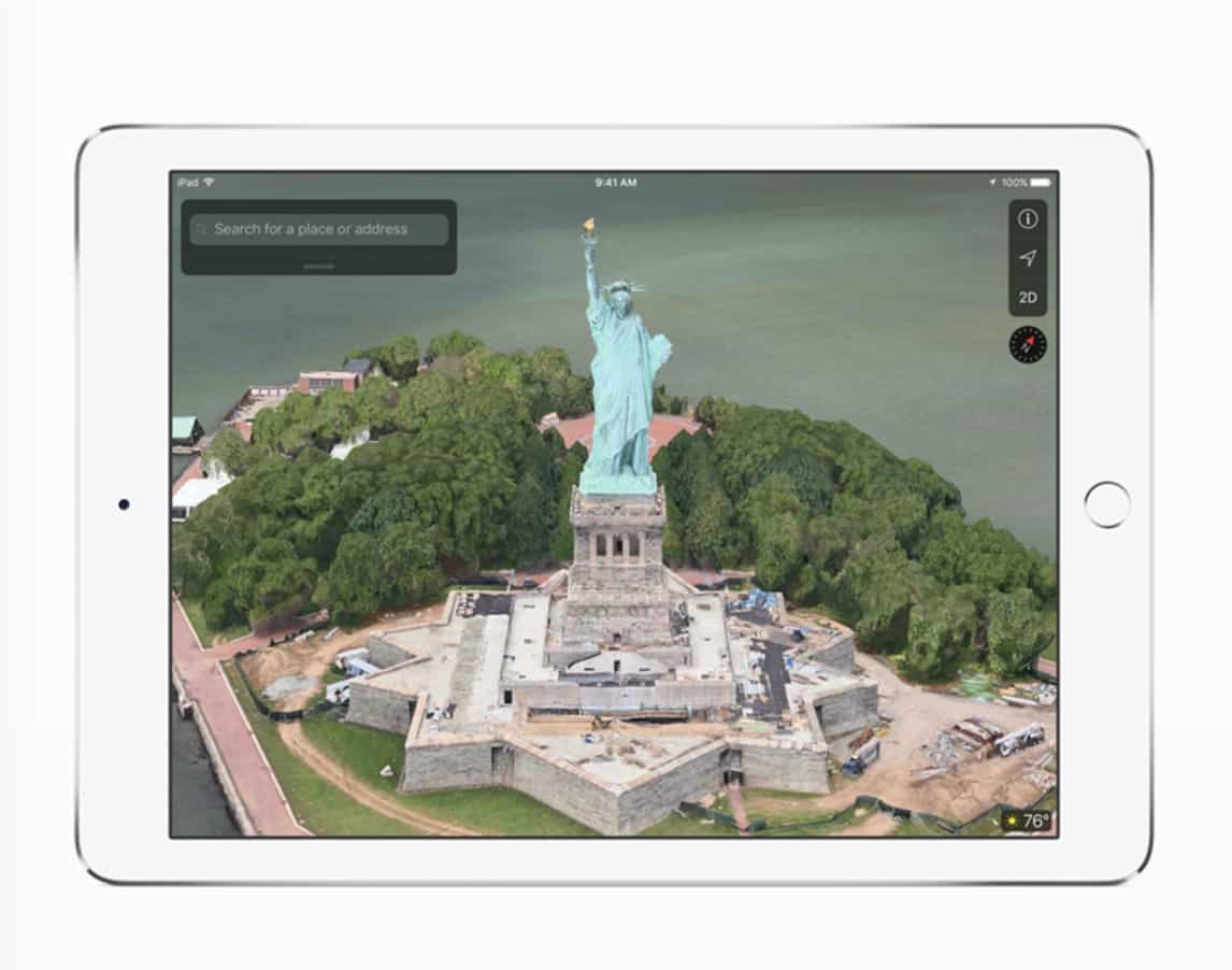 flyover mode in Apple Maps