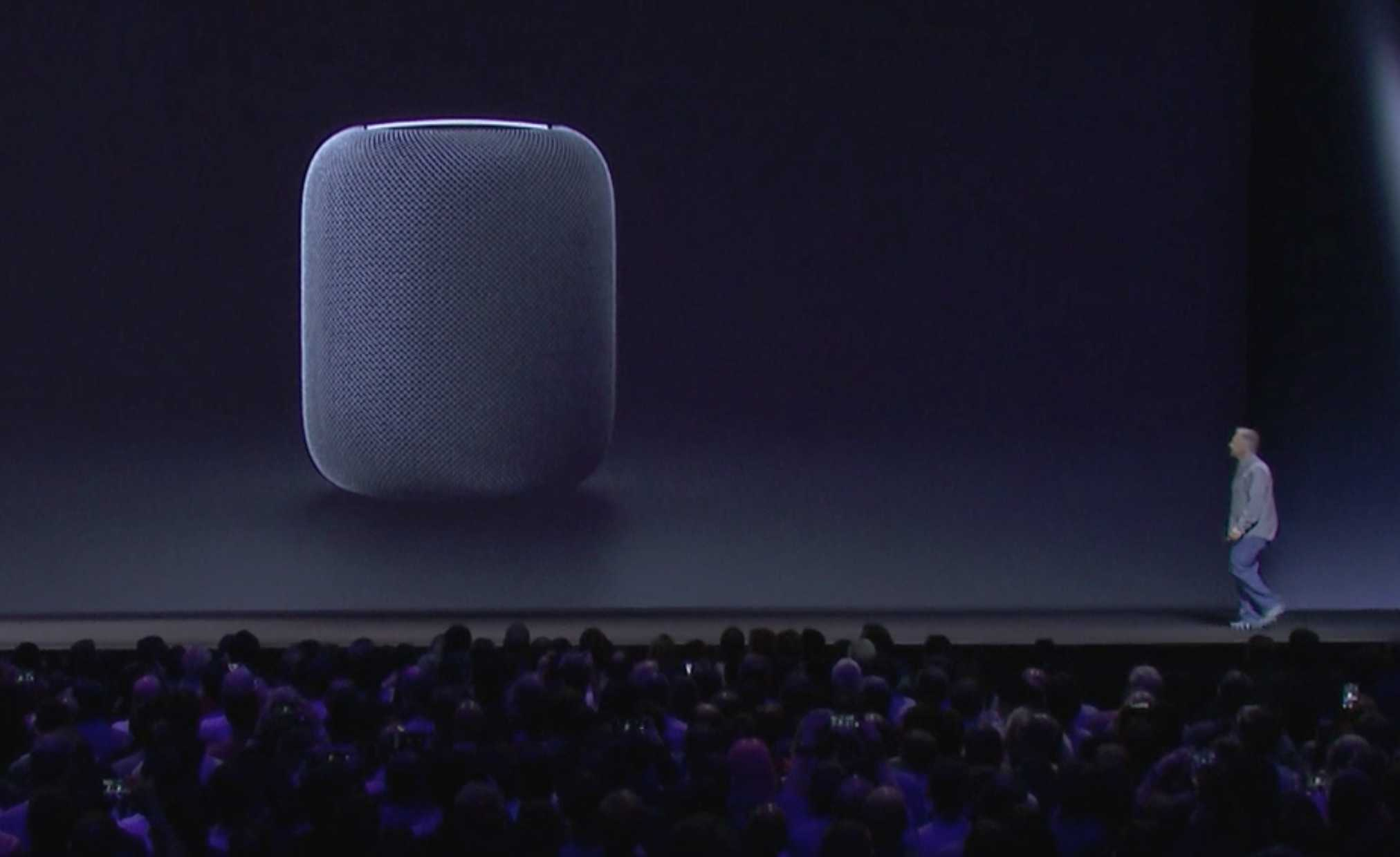 Phil Schiller gives the world a sneak peek at the HomePod during WWDC 2017.