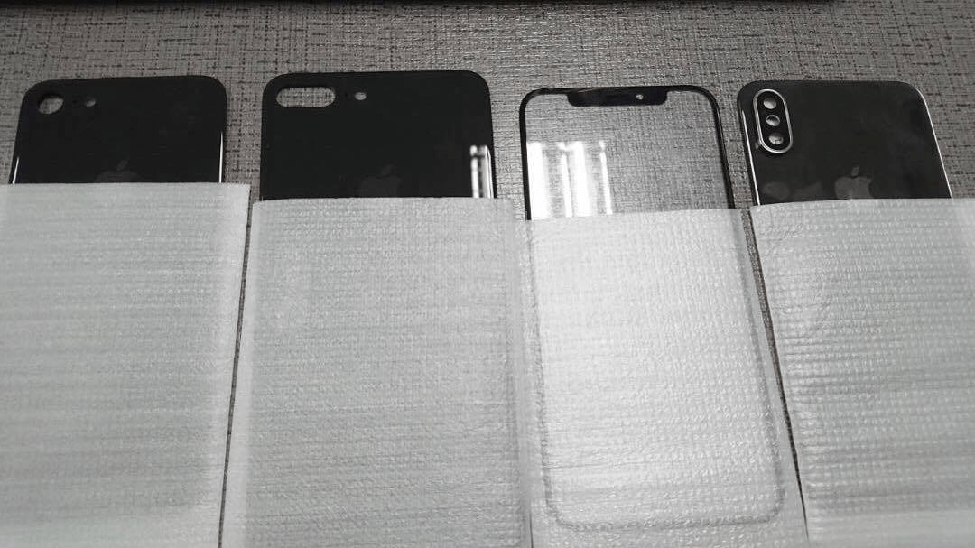 Photos of alleged glass panels for the iPhone 8, 7s and 7s Plus.
