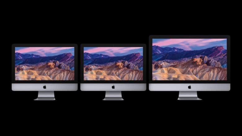 The 2017 iMac family.