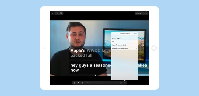 iOS 11 video player