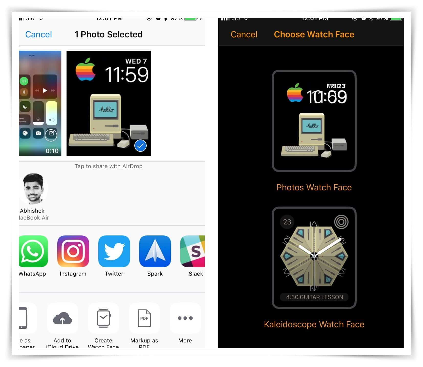 Use a photo from your iPhone as a Watch Face