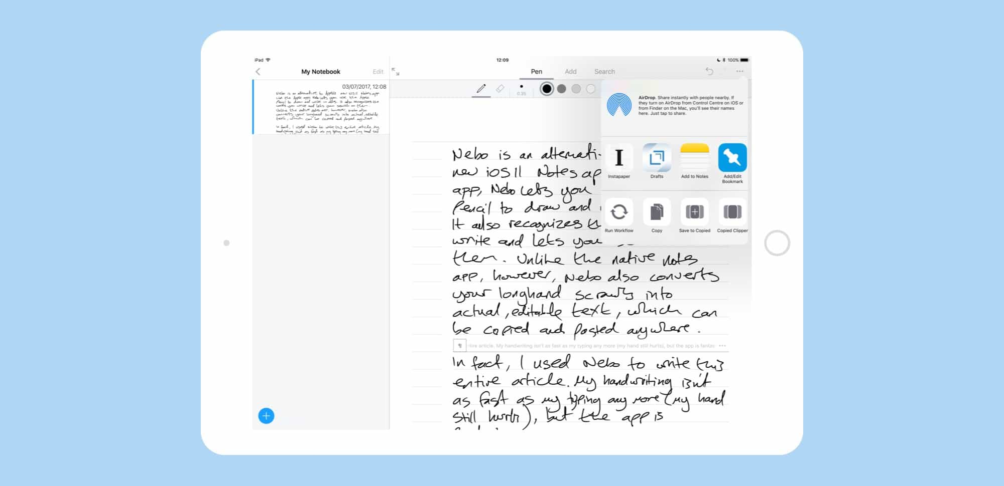 Nebo handwriting app is like paper, only better | Cult of Mac