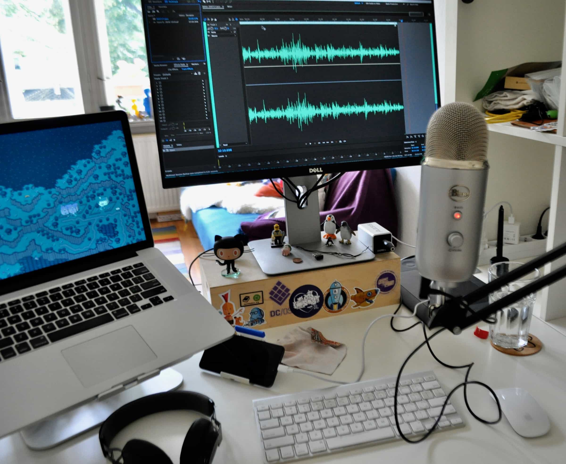 Chris Ward's podcasting setup