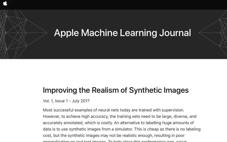 Apple Launches Public Machine Learning Journal