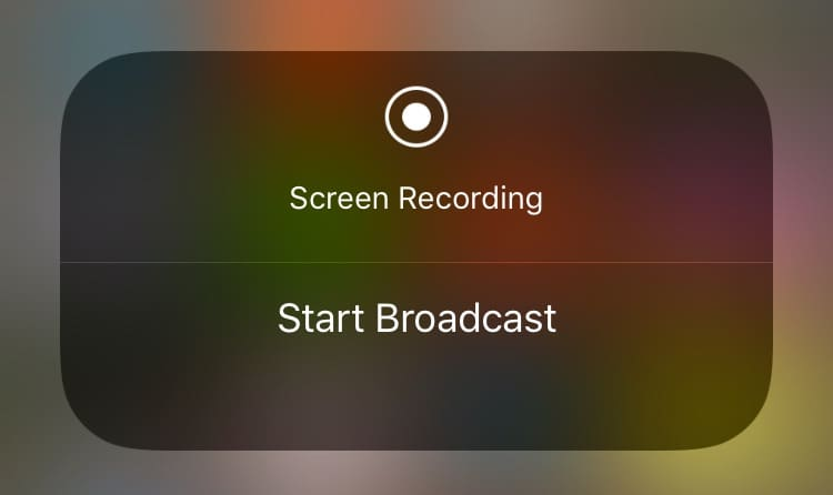screen broadcast iOS 11