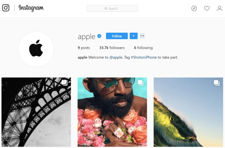 Apple Instagram