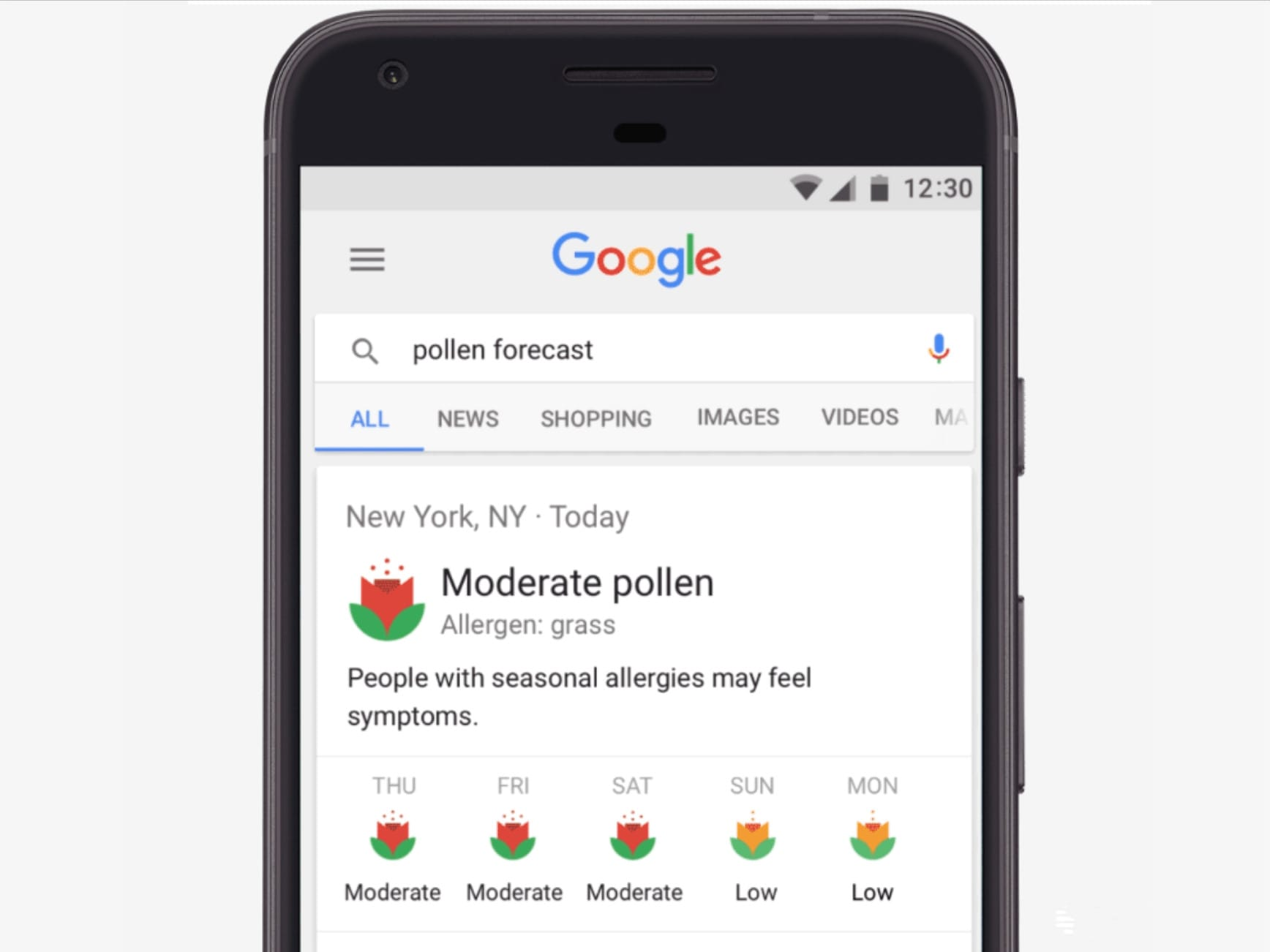 Avoid seasonal sniffles with pollen forecasts in Google search