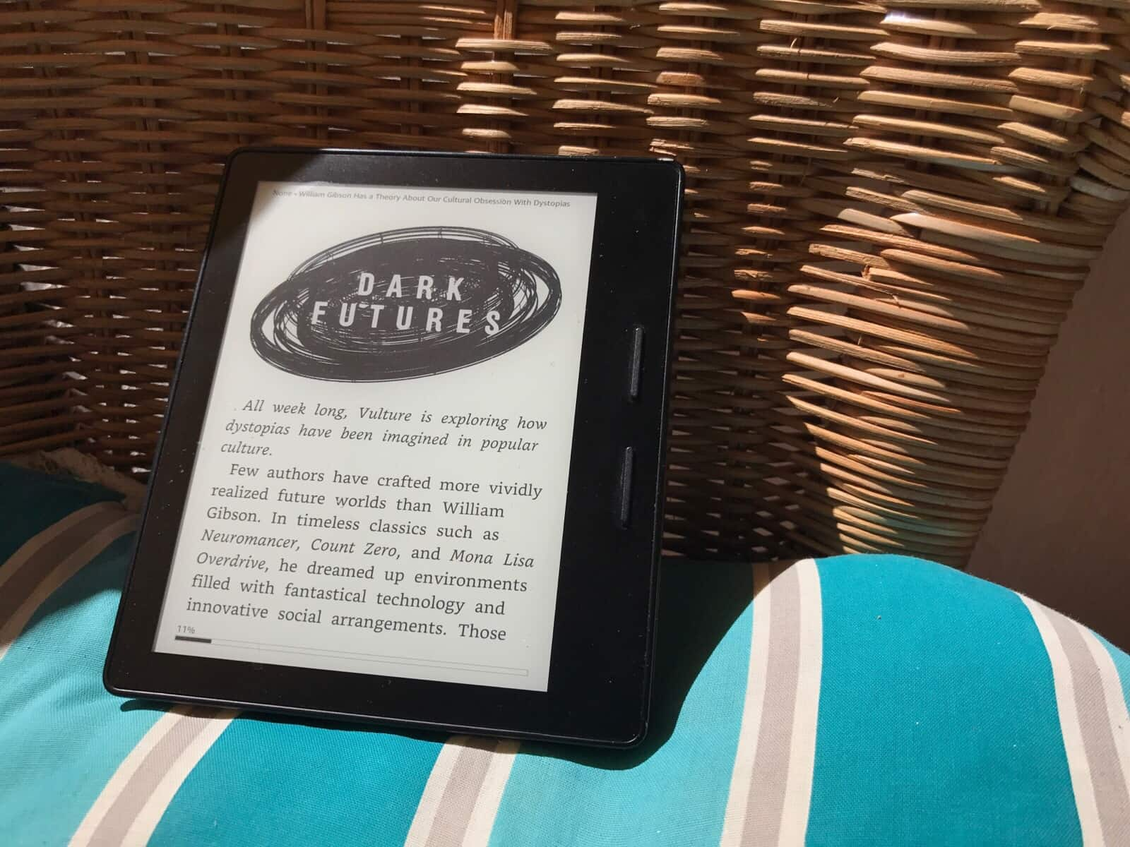 Kindle in the hot hot sun