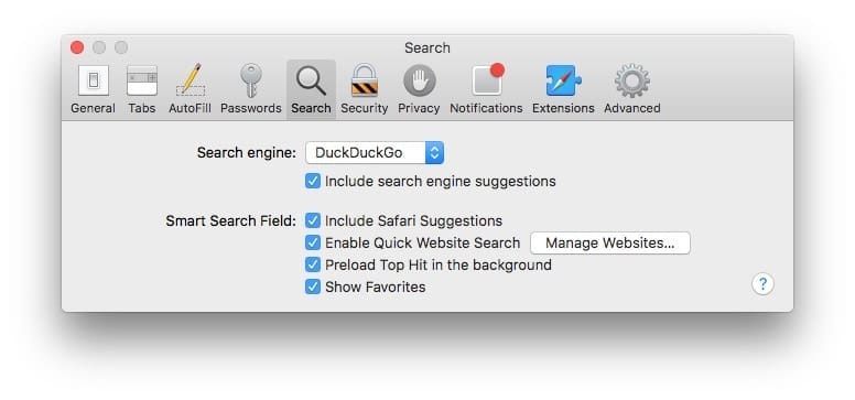 You can choose Duck Duck Go as your default search engine in macOS and iOS.