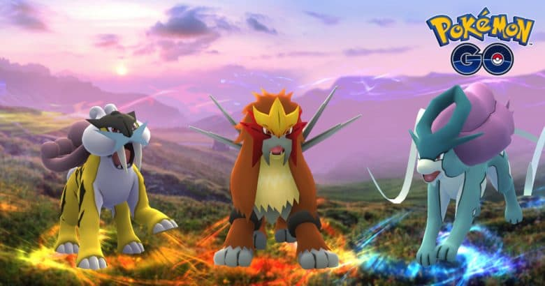 Pokémon Go's new legendary dog trio are out now