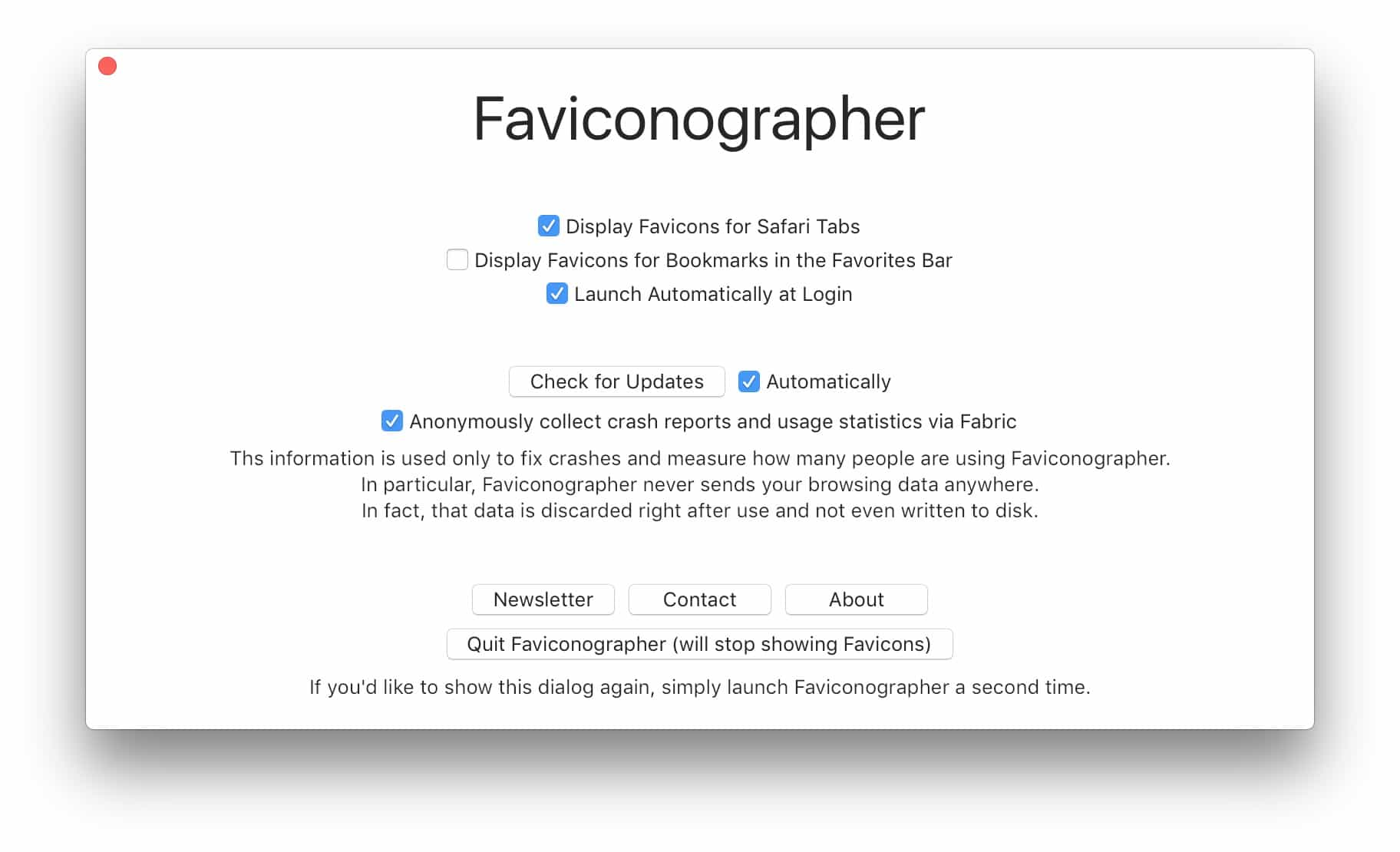Faviconographer even comes with a few tweakable preferences.