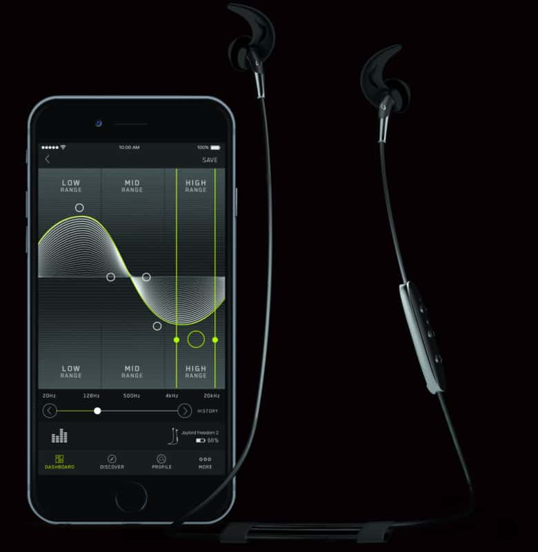 """While not """"truly"""" wireless, the Freedom 2 earbuds work with Jaybird's cool app."""