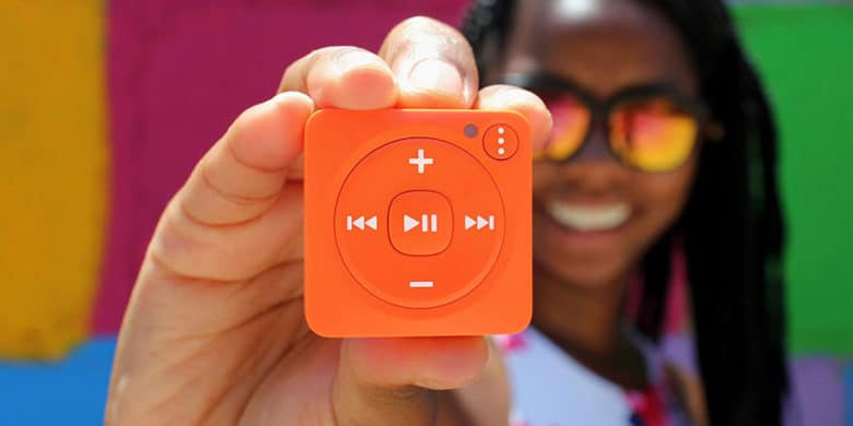 Play all your favorite Spotify playlists with this water-resistant personal music player.