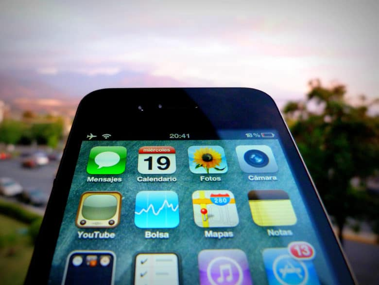 iPhone up close