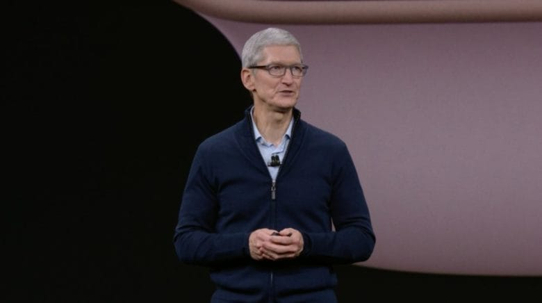 Tim Cook at Apple iPhone X event