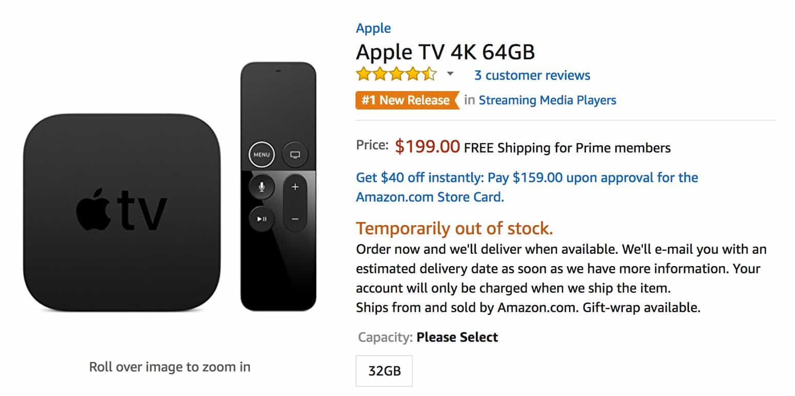 Apple TV amazon