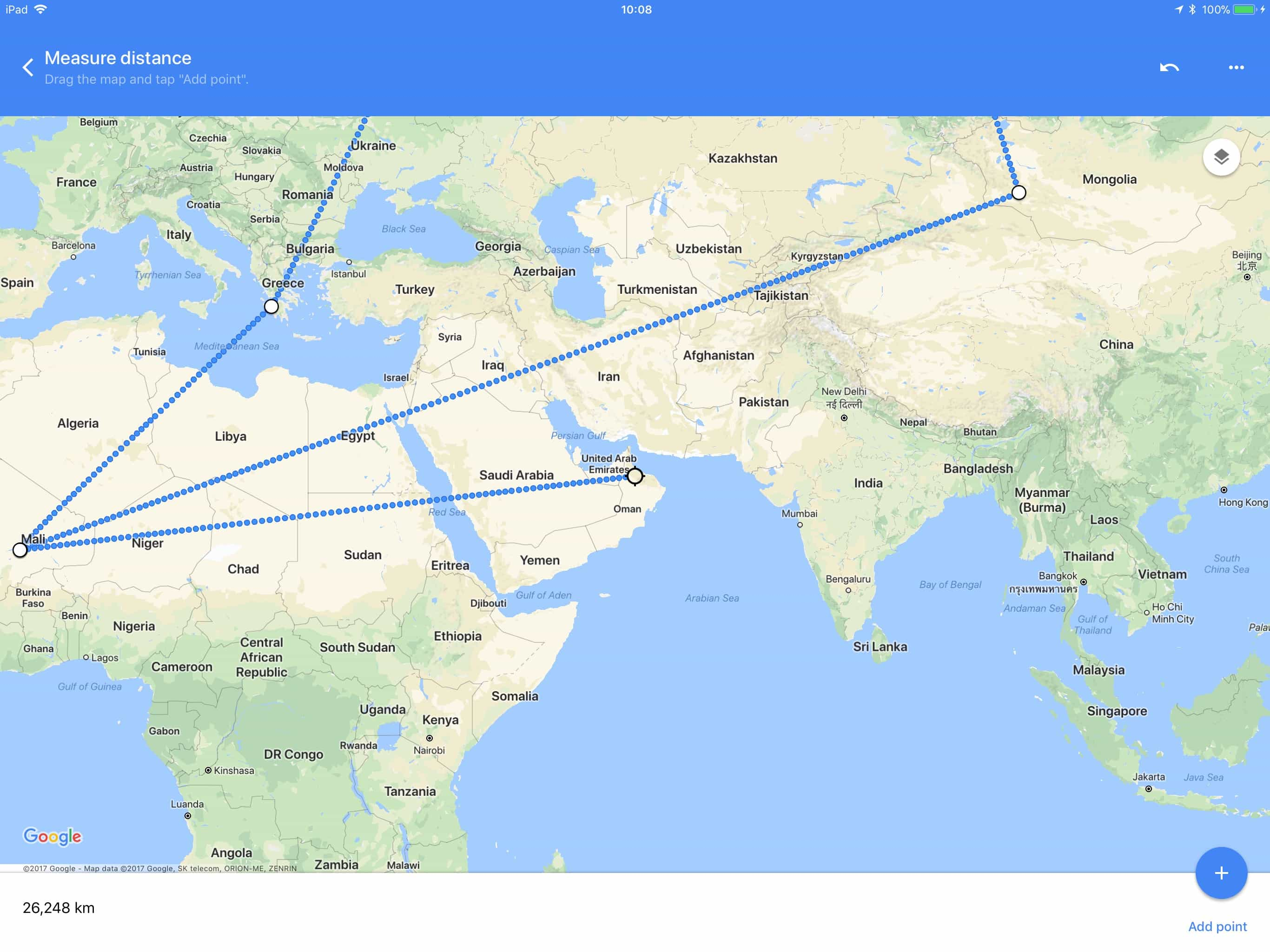 How to measure distance in Google Maps for iOS | Cult of Mac Distance On Google Maps on