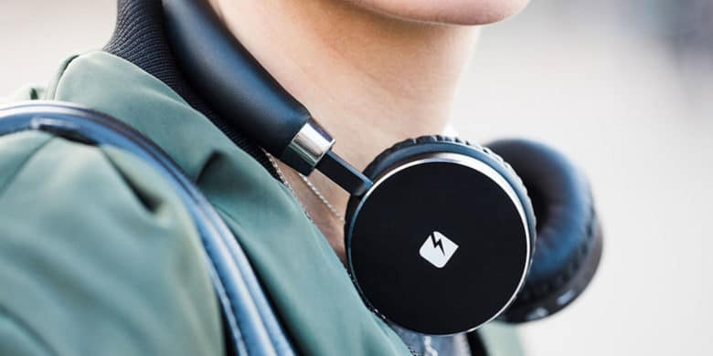 These Bluetooth headphones pack high tech features into a sleek, futuristic package.