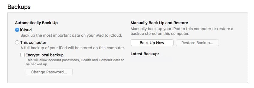 iTunes backups are a last resort, but good to have if you need them.