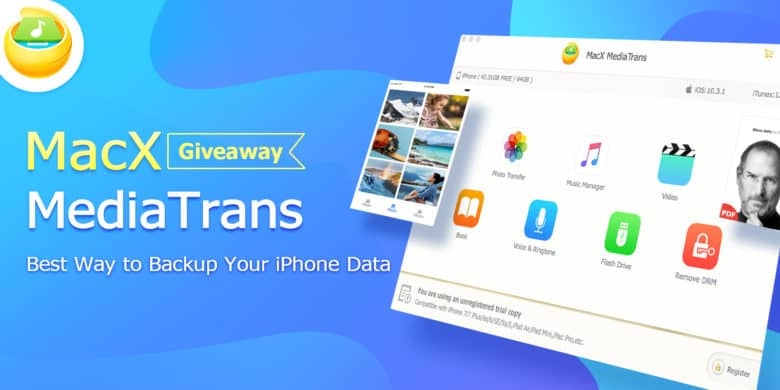 For a limited time, you can grab a free licensed copy of iPhone data syncer MediaTrans.