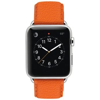 ullu Premium Leather Apple Watch Band in Tangerine