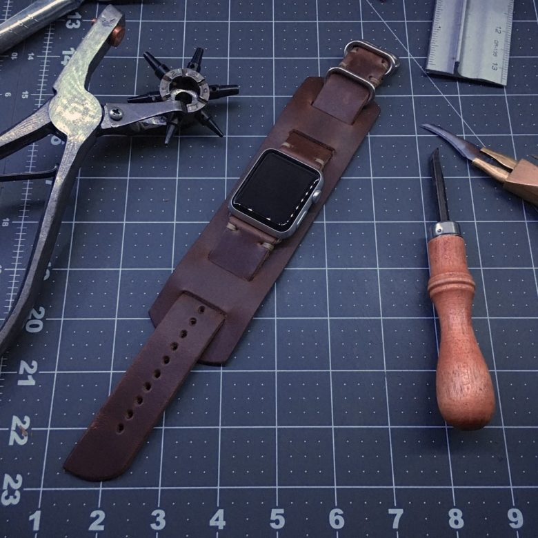 E3 Supply Co. leather Apple Watch band
