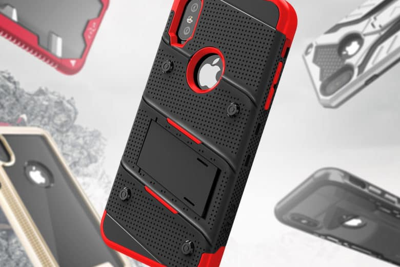 Zizo's line of futuristic cases for iPhone X are designed to military specifications of toughness.