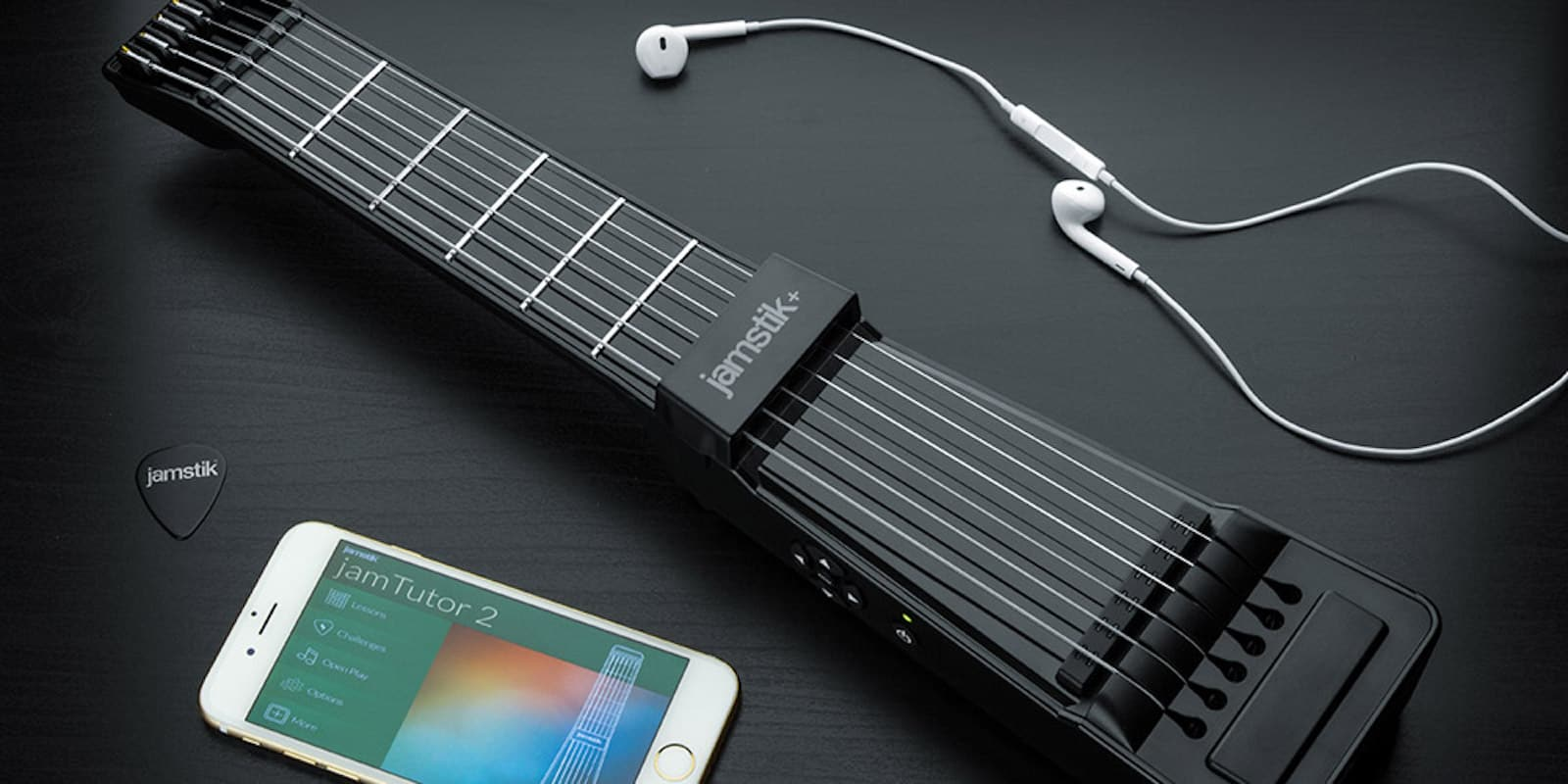 This combination of app and digital axe makes learning guitar extra portable.