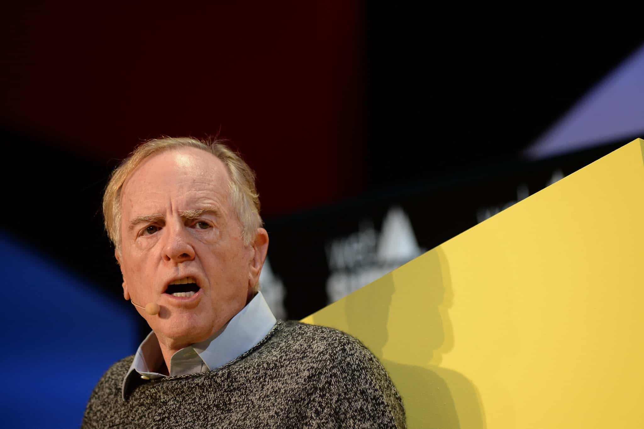 Former Apple CEO John Sculley talks at Web Summit 2015 in Dublin, Ireland.