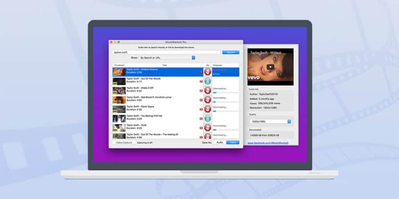 Download nearly any video from any site, YouTube and Vimeo included.